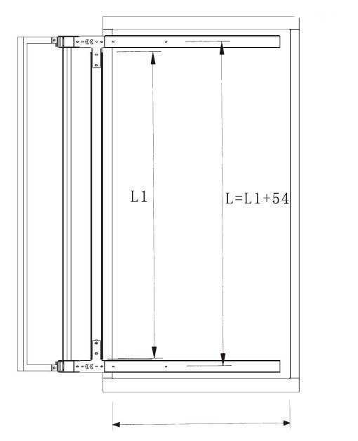 Concealed Dressing Wardrobe Pull Out Mirror With Aluminum Frame 90 ...