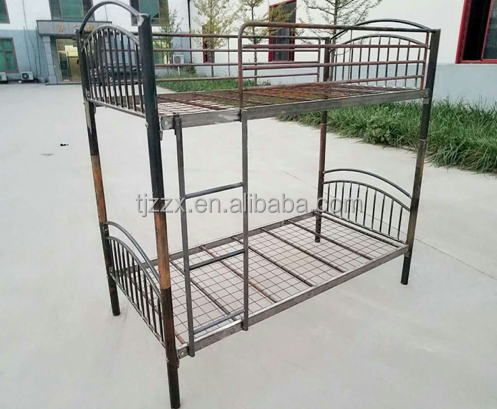 general use student dormitory metal double bunk bed and single bed