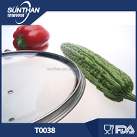 38cm pyrex strong strength tempered glass lids for cookware