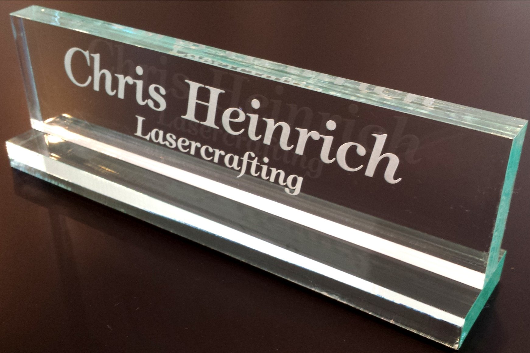 buy office desk name plate 1 2 glass like acrylic personalized