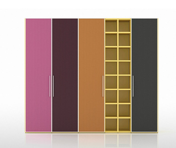 Colorful modern wood  bedroom furniture almirah design wardrobe