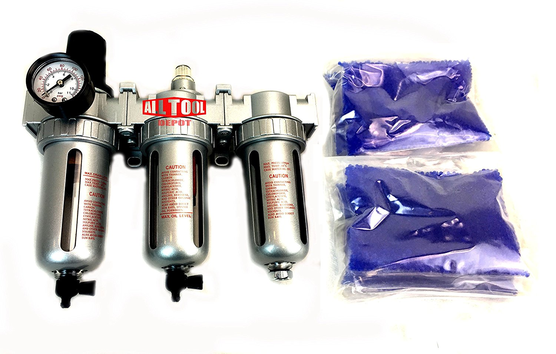 "Get Quotations · NEW 1/2"" Compressed Air Filter Regulator / Desiccant Dryer / Coalescing Filter 3"