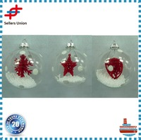 Wholesale Clear Glass Christmas Ball Ornaments Craft