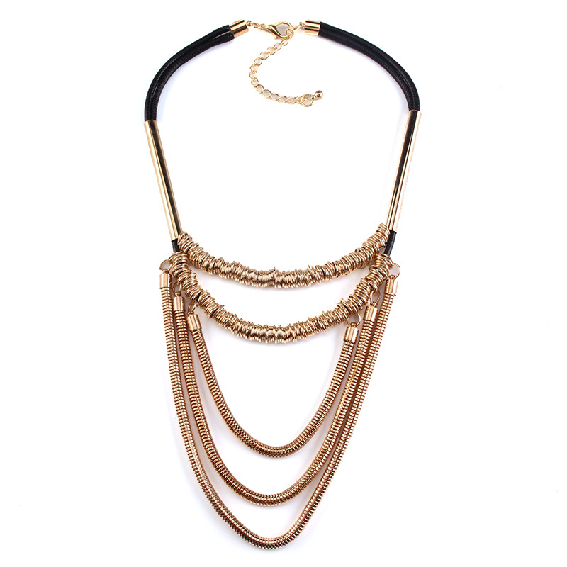 Fashion dropshipping jewelry multilayer black necklaces