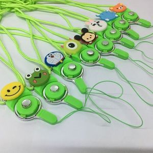 Cellphone safety lanyard silicone cartoon figure mobile security strap in low price