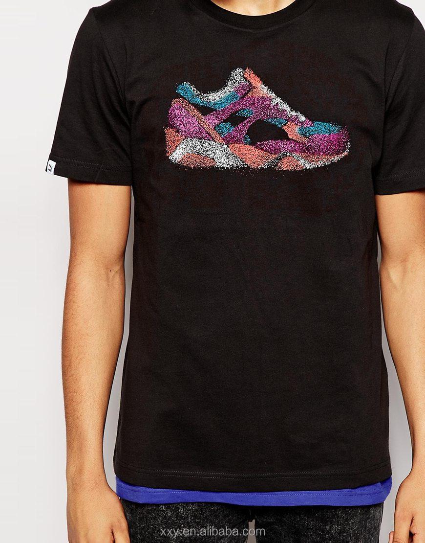Black t shirts in bulk - Top Fashion Plain Black T Shirts Wholesale Men T Shirts Embroidery Designs T Shirt Price