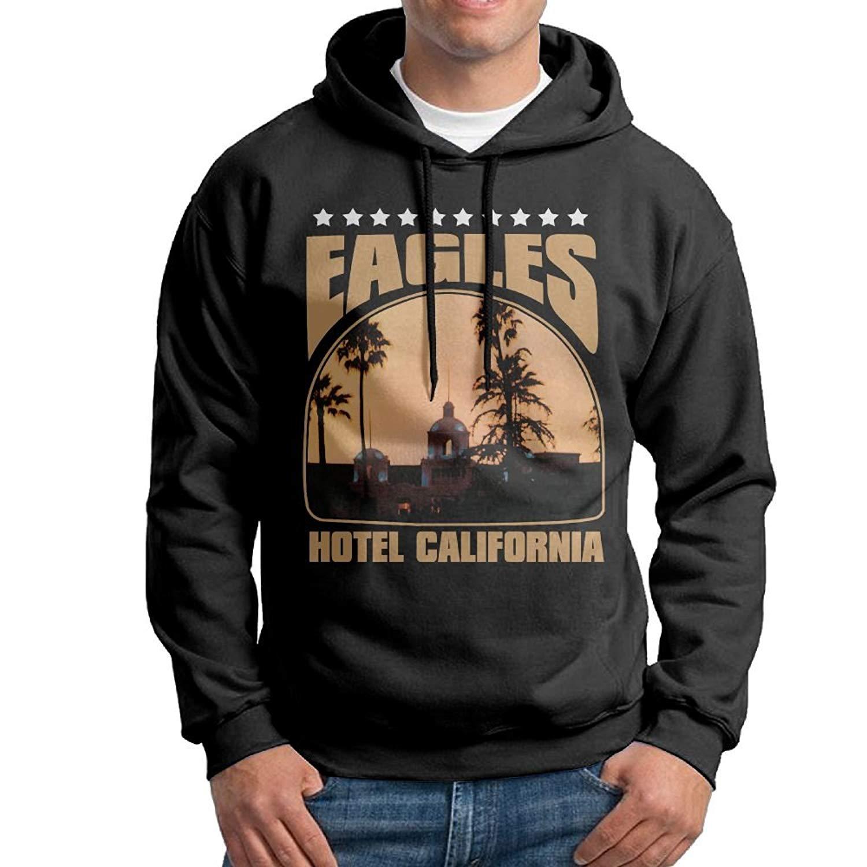c9ffac62d Get Quotations · Rebecca-P Men Eagles Hotel California Particular Hoodie  Hoodies Black