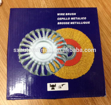Twisted Knotted Wheel Flat Brush