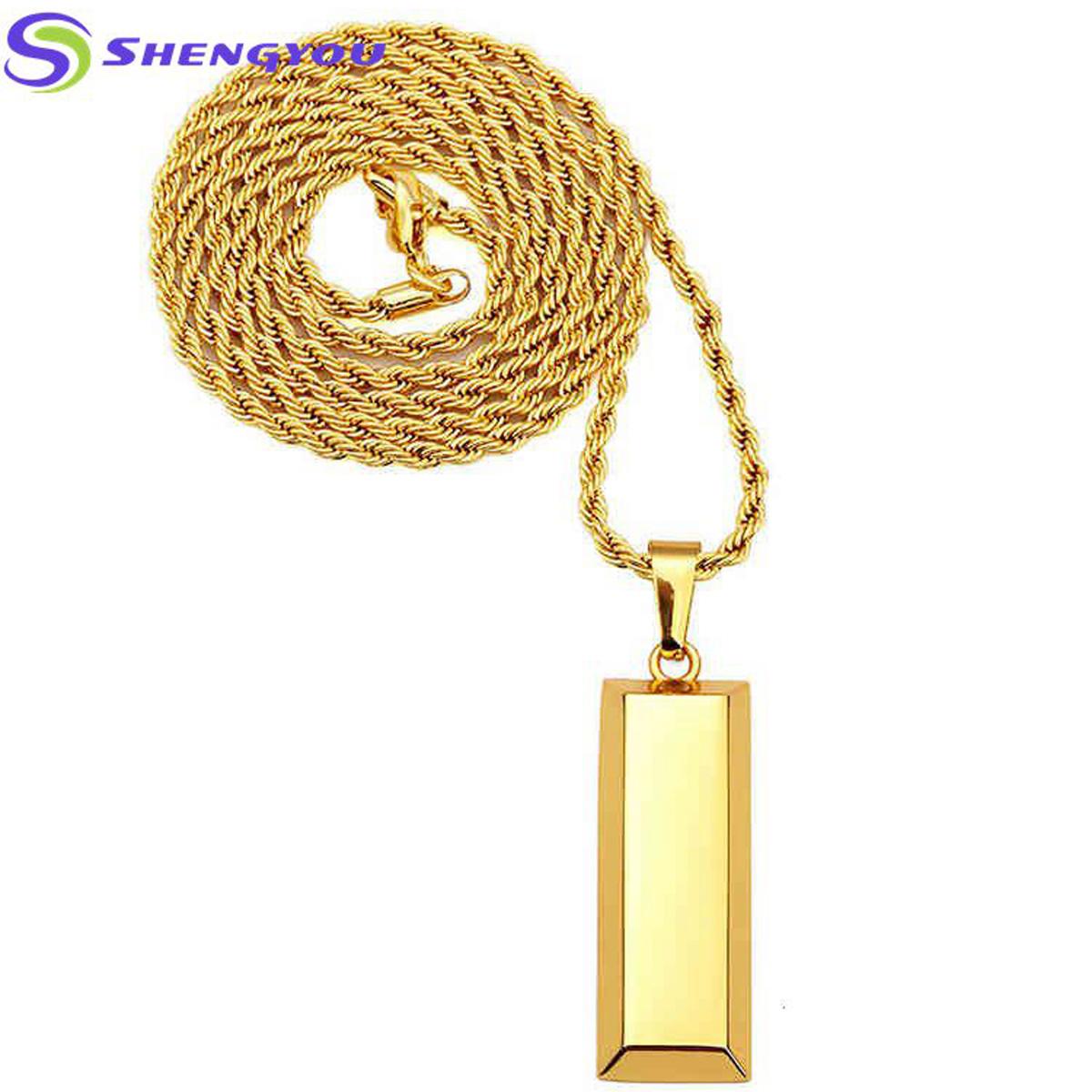 Elegant fashionable jewelry high quality 18k solid gold twist chain elegant fashionable jewelry high quality 18k solid gold twist chain necklace with gold bar pendants hip aloadofball Image collections