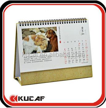 English Arabic Calendar Stand Up Calendar 2017 - Buy English ...