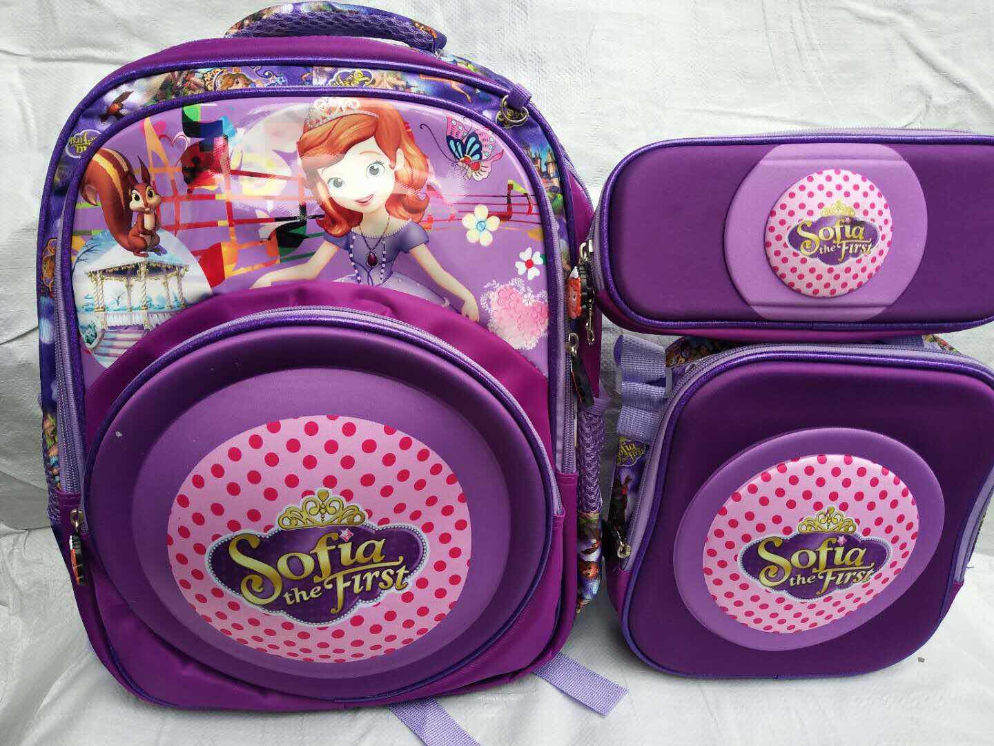 3 in 1 kids potlood lunch cartoon trolley schooltas