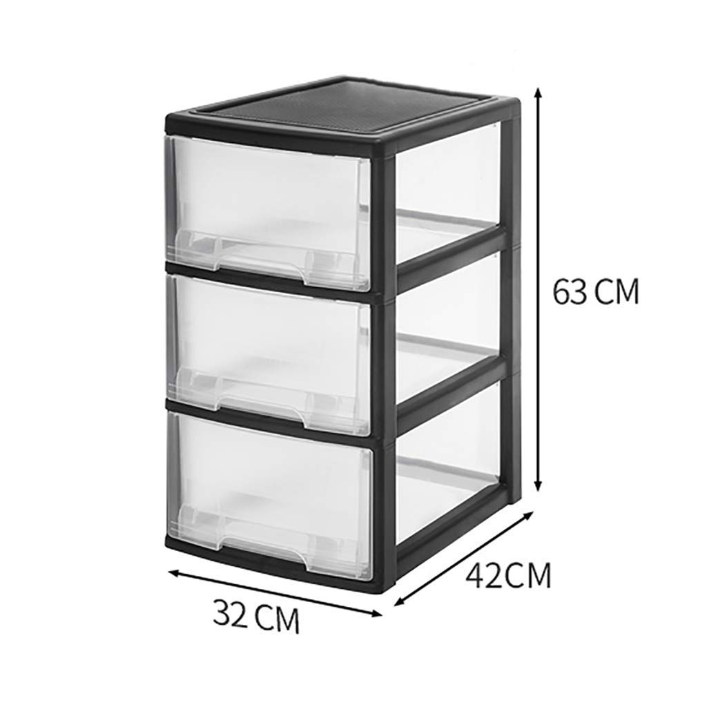 WJ Drawers Drawer Storage Trolley, Monochrome Mobile Storage Trolley Home,Office & Salon (Color : B, Size : 324263cm)