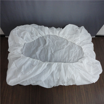 White Disposable Elastic Fitted Bed Sheets Cover For Massage Table