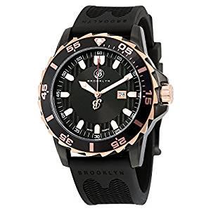 Brooklyn Waterbury Sports Diver Black Dial Swiss Quartz Watch 302-M4113