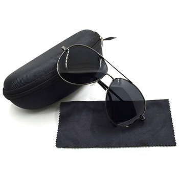 STOCK sun glasses UV 400 mens retro metal vintage driving finishing polarized sunglasses with case