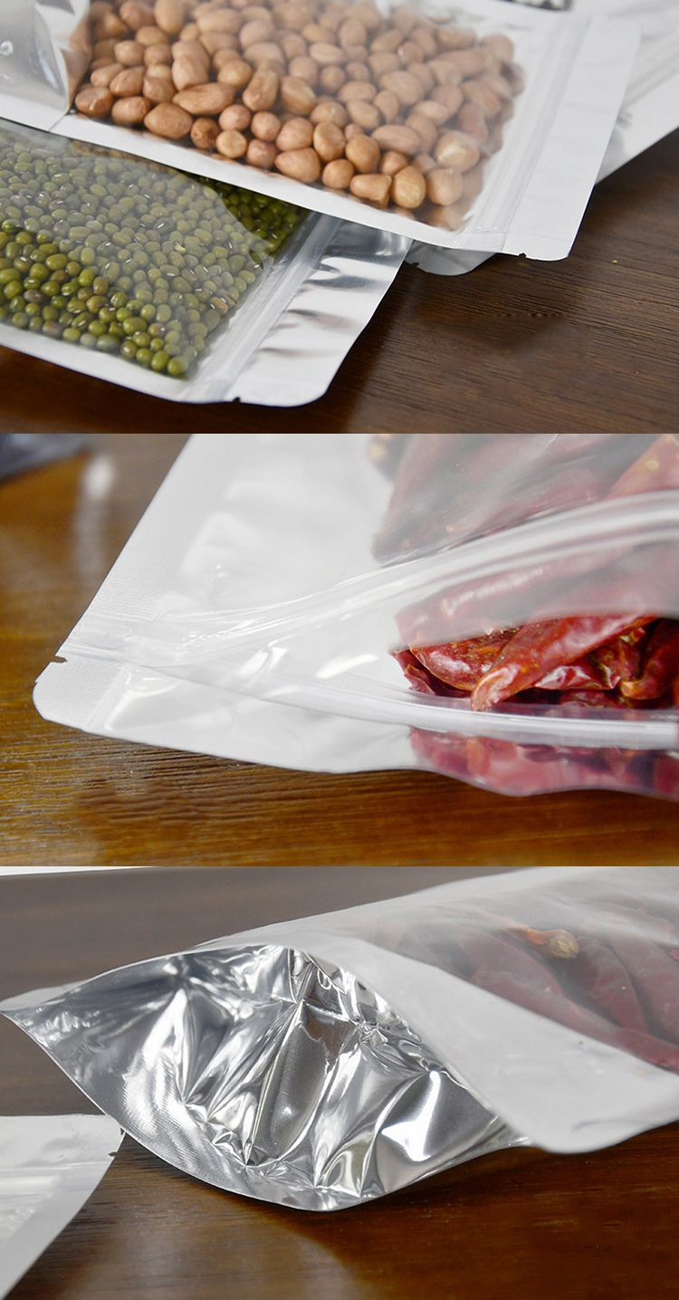 Hot sale plastic cashew nut packaging zip lock bag transparent foil packaging bag