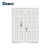 Residential high quality reinforced steel security double leaf house steel door price