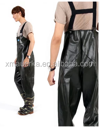 Deluxe PVC Knitting Breathable Stocking Foot Wader, 2-Tone Taupe