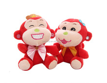 Newest hot sale ICTI SEDEX factory high quality stuffed promotion valentines plush monkey toys