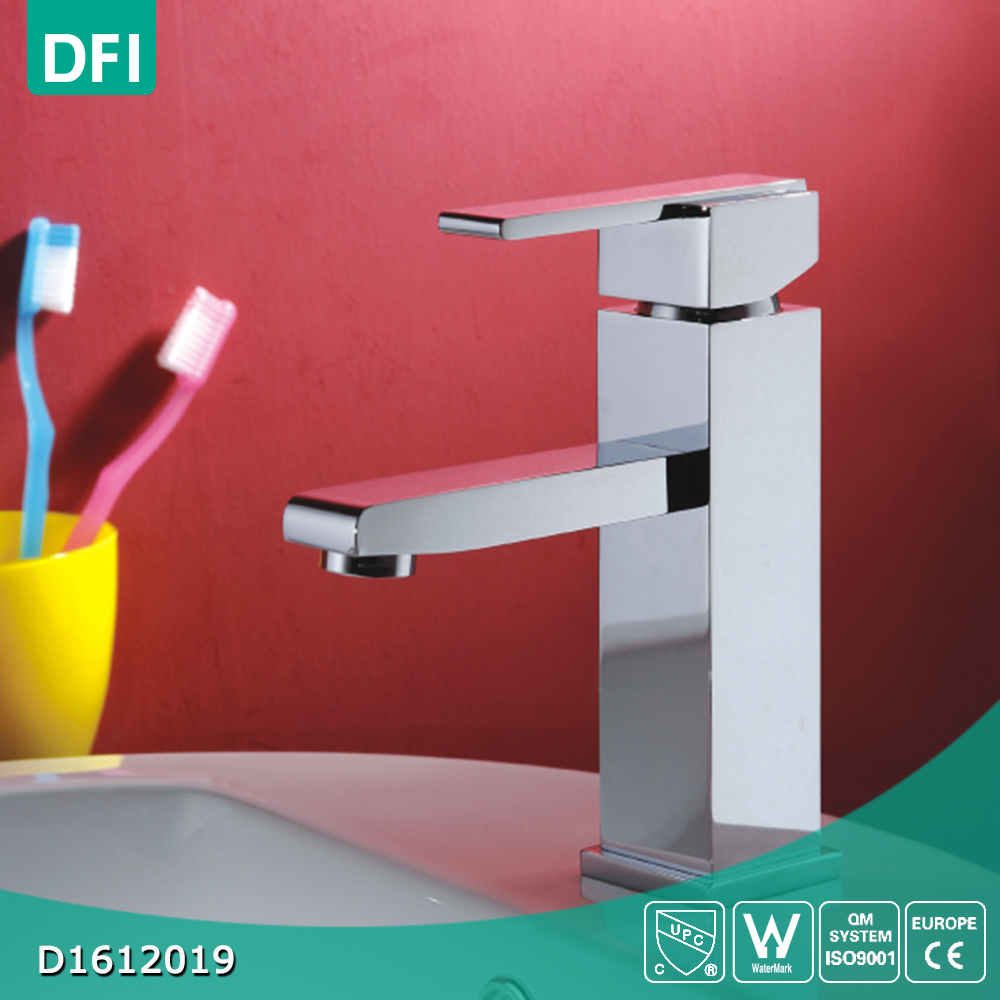 Top quality 1 hole hot and cold water mixer tap for washroom