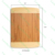 Wholesale Rectangle Bamboo Cutting Board With Non Slip Foot