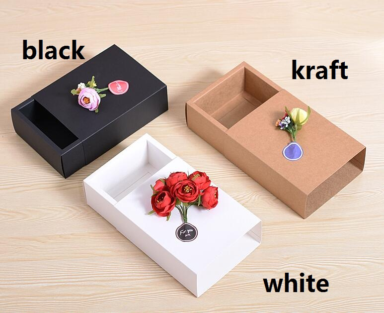27*16*8.5cm large black paper gift box big size kraft gift boxeses large size white paper box