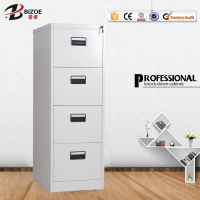 Customized high quality 4 drawer godrej almirah designs steel detachable office furniture filling cabinet