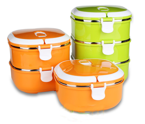 Multi Layer Stainless Steel Thermal Insulated Lunch Box Tiffin Food Storage Containers