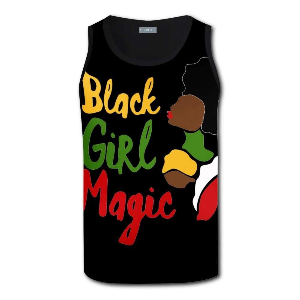 e7b30d05 Get Quotations · KBKB 2018 Man Summer 3D Printed Black Girl Magic Graphic  Art Racerback Sleevelesss Vest Tank Tops