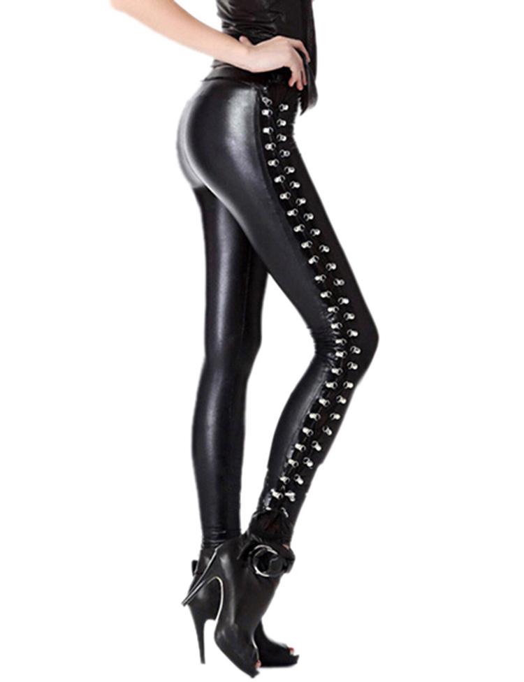 Al Mayor Buy polainas Look Medias Pantalones Por Oem Cuero China medias Product Mujeres On Punk Wet De Cuero Leggings Faux rdCQtsh