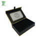 Luxury customized printing gold card paper black eva tray cigarette gift packaging with satin