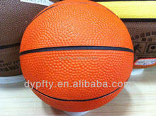 custom logo printed rubber basketball ball