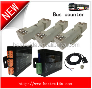 public transport gprs module bus passenger counter with IR sensor sd module GPS GPRS GSM sim card web-based tracking system