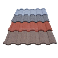 tongyuan Roman 1340x420mm colorful heat insulation stone coated roof tile, new innovation building material
