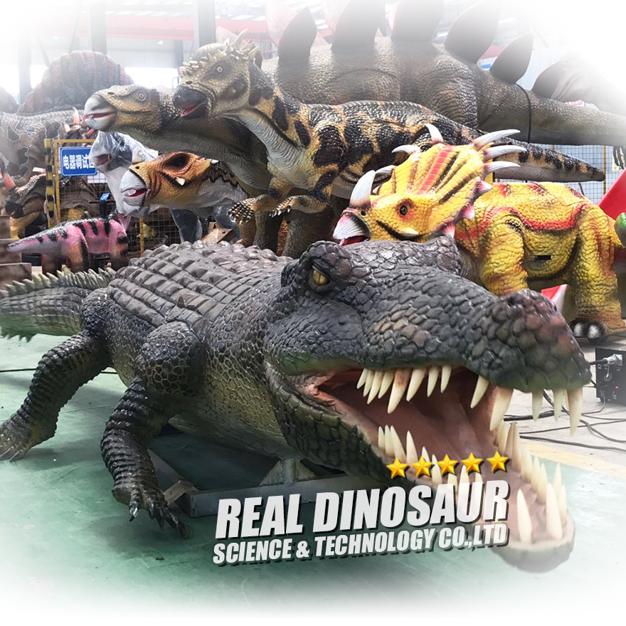 Life Size Animatronic Animal Model Animatronic Crocodile Model for Sale