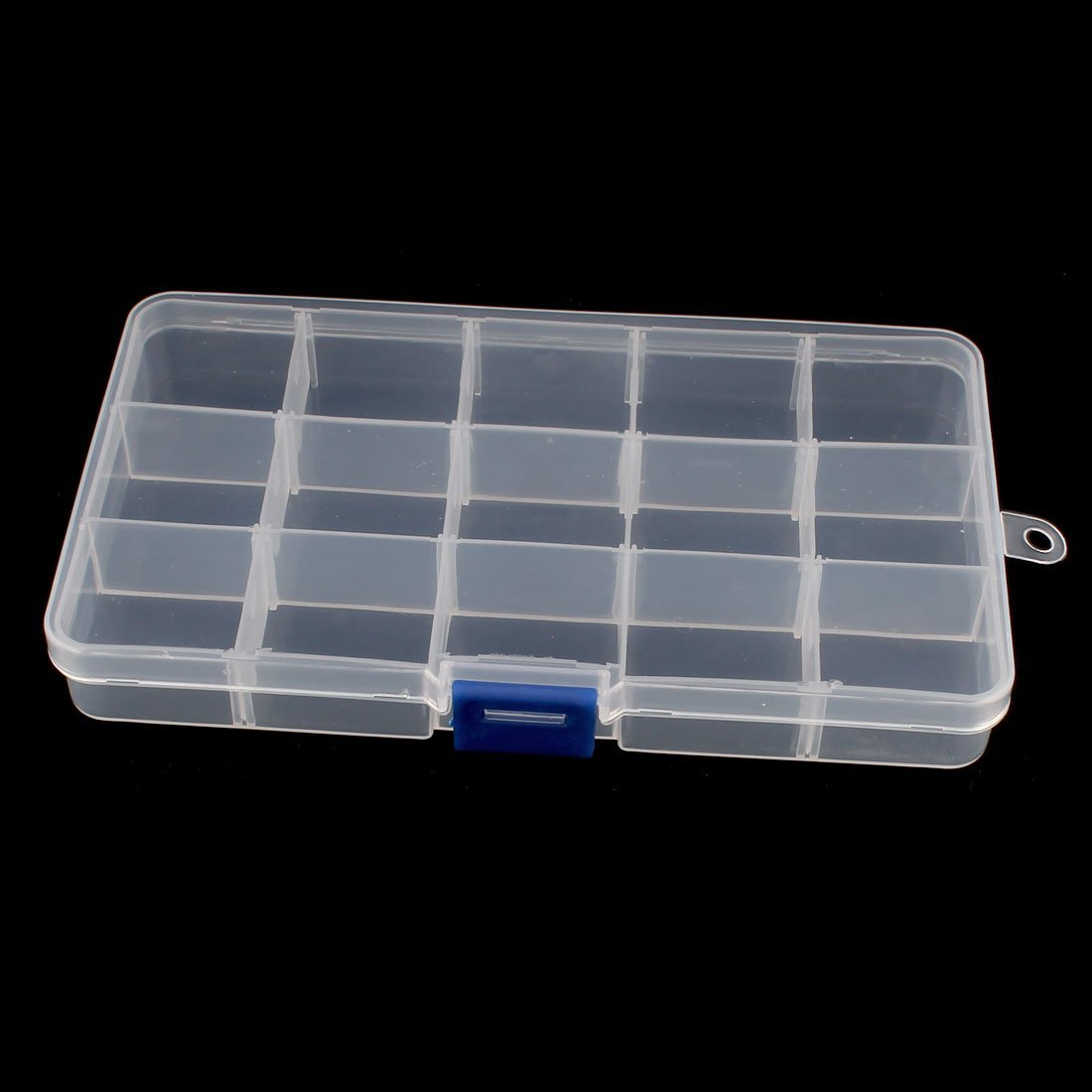 Aexit Electronic Components Tool Organizers 15 Slots Detachable Plastic Storage Tool Boxes Cases Boxes