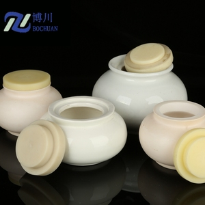 Porcelain High alumina ceramic ball mill grinding jar with lid