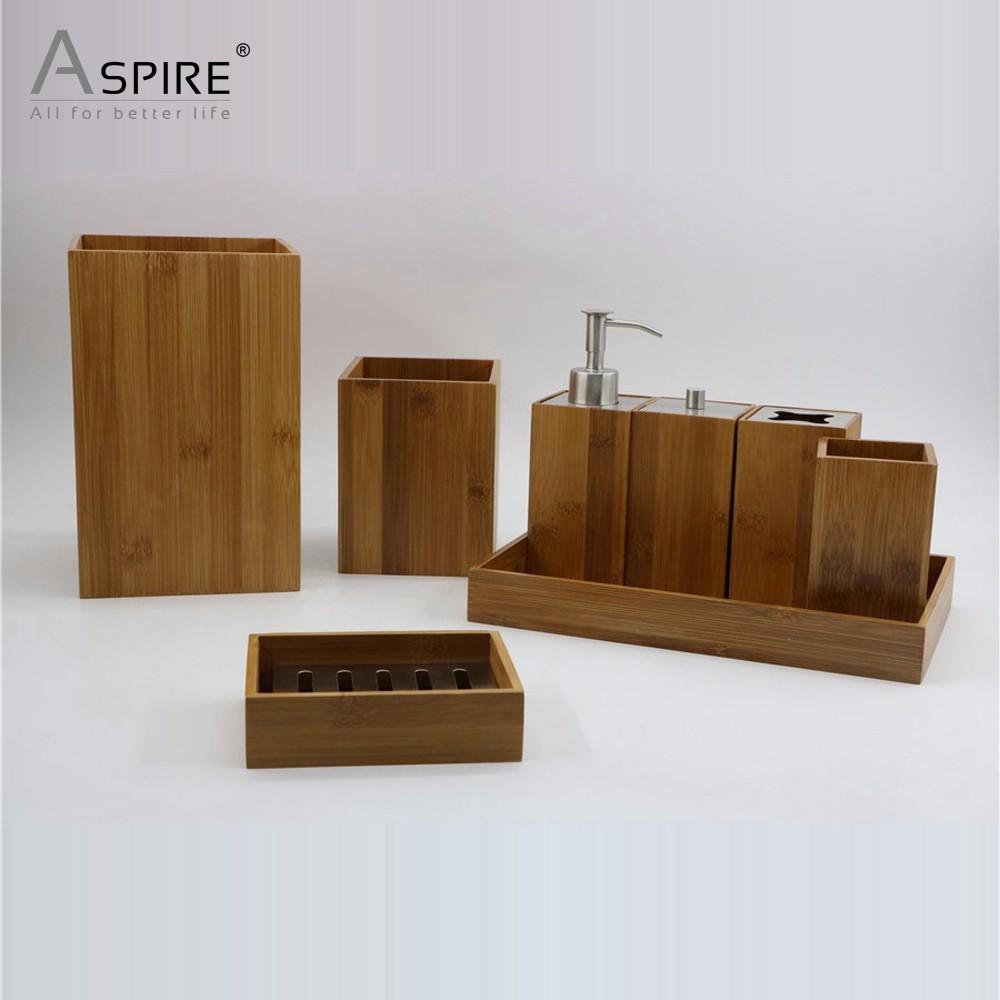 Bamboo Wood Bath Accessories