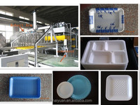 High output automatic disposable tableware processing machine with robot arm