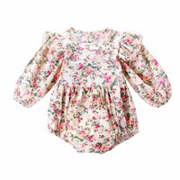 2019 Newborn Baby Girl Clothes Floral Print Long Sleeves Baby Romper Jumpsuit Overall Baby Clothes for Spring wear