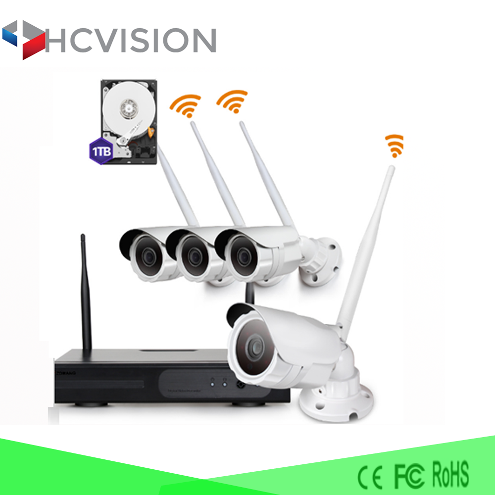 HD 1080P ip camera wireless cctv camera system home security wireless wifi 3g ip camera 4ch nvr kit