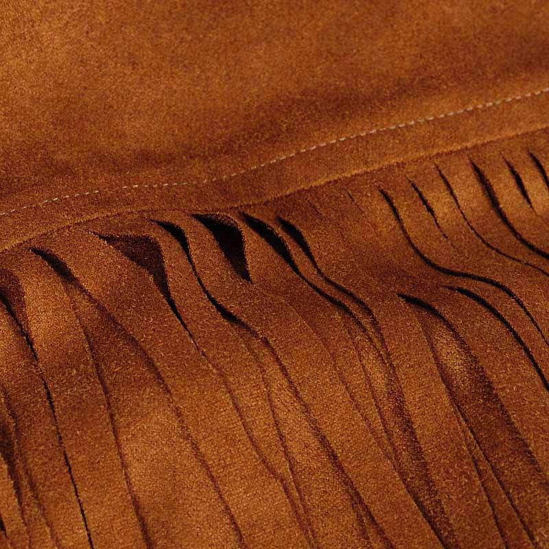 Мода кисточкой 3/4 рукав короткий кардиган жилет осень верхняя одежда реальные фото 2015 браун женщин искусственной замши бахрома жилет