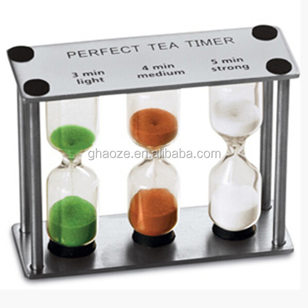3 In 1 Metal Hourglasses 1 3 5 Minutes Tea Timer Factory