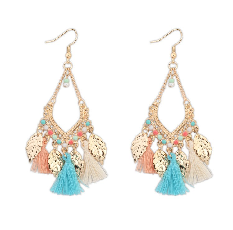 Jewelry Fashion Earrings New Style 2016 Red Tassel Silk Thread ...