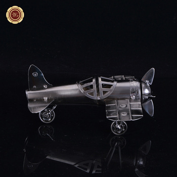 Custom Vintage Small Metal Plane Model Collectible Handicraft Airplane  Craft Unique Home Office Decor