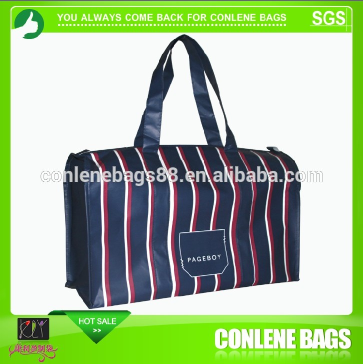 Factory supply excellent quality three colors stripes travel bag