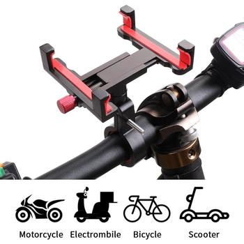 2019 Aluminium Alloy Bike Phone Mount Mobile Support for Mountain Bike Bicycle Handlebar & Stem 360 Rotation Adjustable for iPho