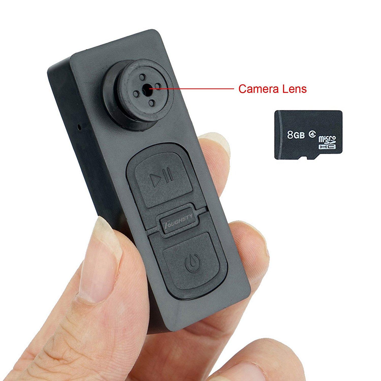 Toughsty™ Button Phinhole Hidden Camera Camera Mini SD Card DVR-Built in 16GB TF Card