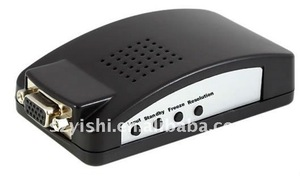 YS-AV01 AV /S-VIDEO BNC to VGA Video Converter ( TV to LCD )