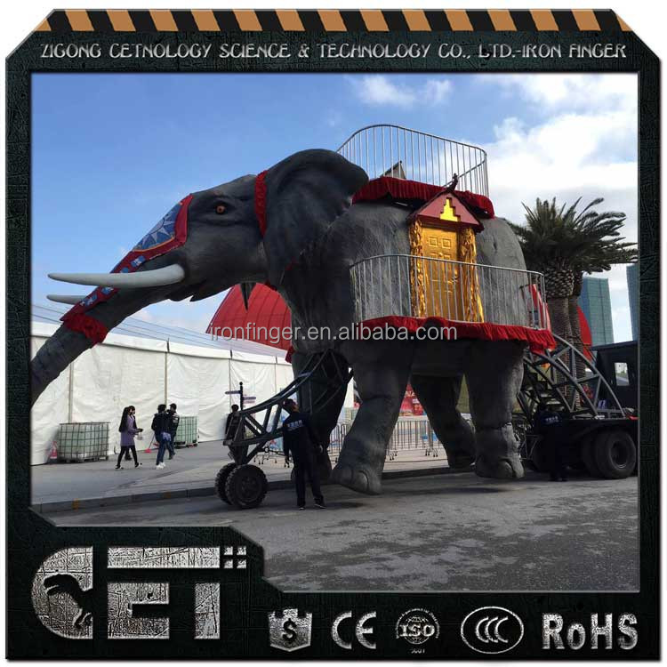 CET-A-775 animal theme park model walking animatronic animal model for decoration
